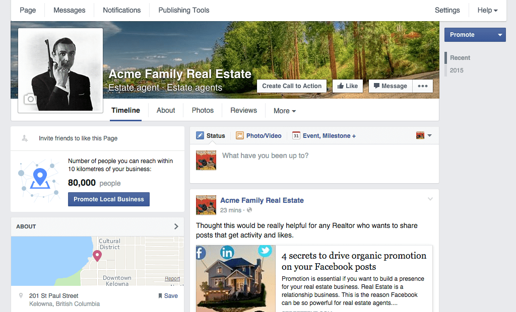 How to create a real estate Facebook business page for agents