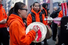 Chinese new year celebrations in Boston Chinatown. Photograph by Shraddha Gupta.