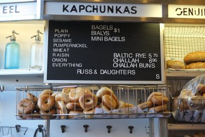 Bagel Choices at Russ and Daughters