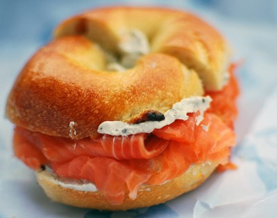 How to eat a bagel like a New Yorker: Bagel with Cream Cheese and Lox