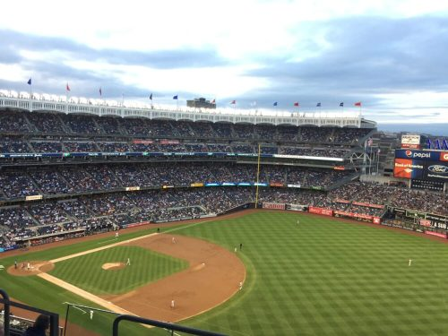 An example of a thing to do in New York in April: attend a baseball game