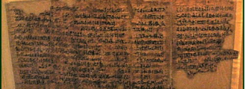 Egyptian Papyrus - 10 Plagues Description