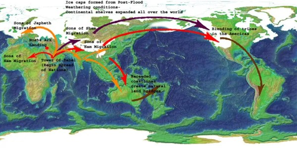 Map - World - Descendants - Noah