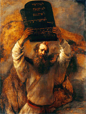 Rembrant 1659 - Moses Holding the 10 Commandments