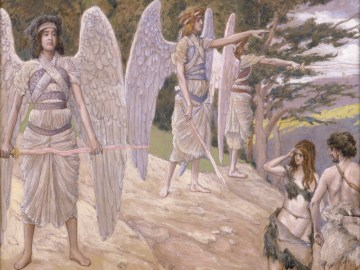 james-tissot-adam-eve-driven-from-paradise-1902-painting-drawing