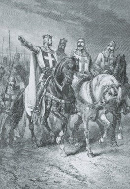 gustave-dore-four-crusade-leaders-first-drawing-painting