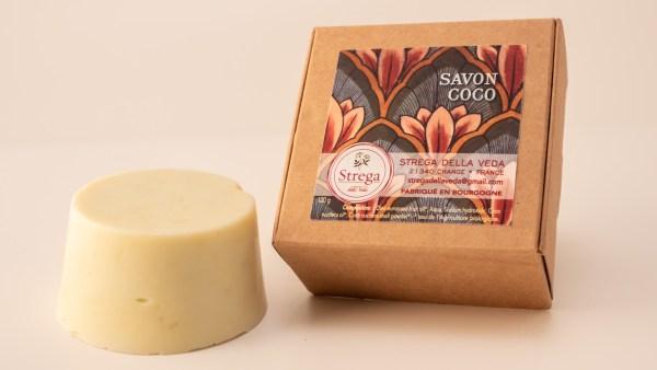 Savon Coco nourrissant hydratant protecteur peaux sècges grasses matures mixtes fragiles enfants naturel bio biologique France à froid huile d'olive