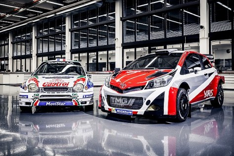 Toyota Corolla WRC and Yaris WRC