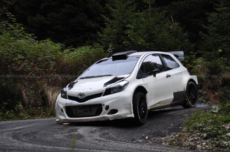 Микко Хирвонен - Тойота - тесты в Италии 2015