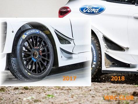 Боковые воздуховоды Ford Fiesta WRC