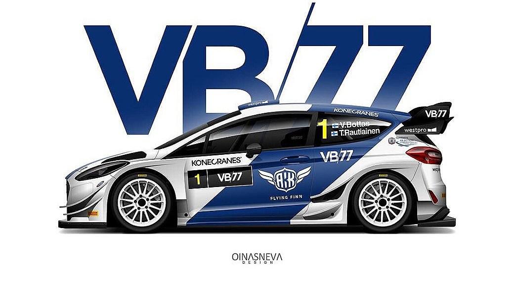 Ливрея Ford Fiesta WRC Валттери Боттаса для Arctic Lapland Rally 2019