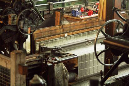 Webstuhl in der Woolen Mill