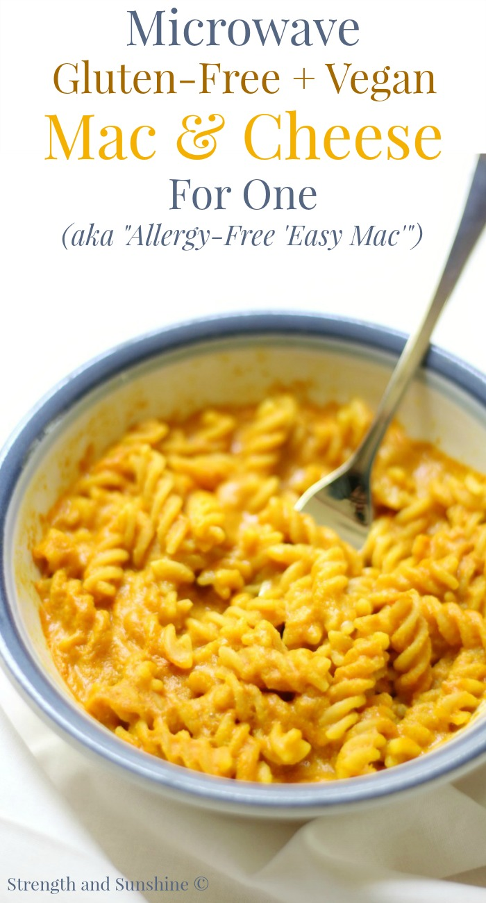 microwave gluten free vegan mac cheese for one allergy free easy mac