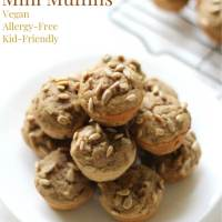 Gluten-Free Banana Sunflower Mini Muffins (Vegan, Allergy-Free)