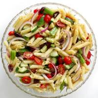 Gluten-Free Greek Pasta Salad (Vegan, Allergy-Free)