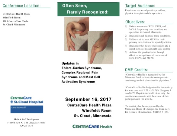 Physician CME Activity and Learning Conference on Ehlers-Danlos syndromes (EDS), Mast Cell Activation Syndrome (MCAS) and Complex Regional Pain syndrome (CRPS) in Minnesota