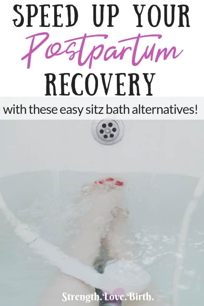 Want to speed up your healing after birth? Consider a sitz bath alternative. Here are some natural tips and ideas for all the benefits of a sitz bath after birth with less time and fuss. You'll learn how to use water, herbs, sprays, and salves to get your lady bits feeling good again!