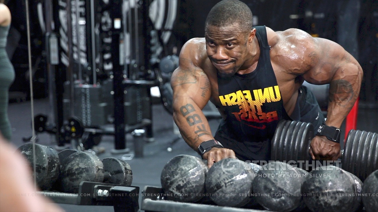 Ifbb Pro Charles Griffen Trains Chest And Back In The Off