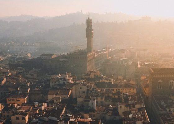 city italian dawn landscape