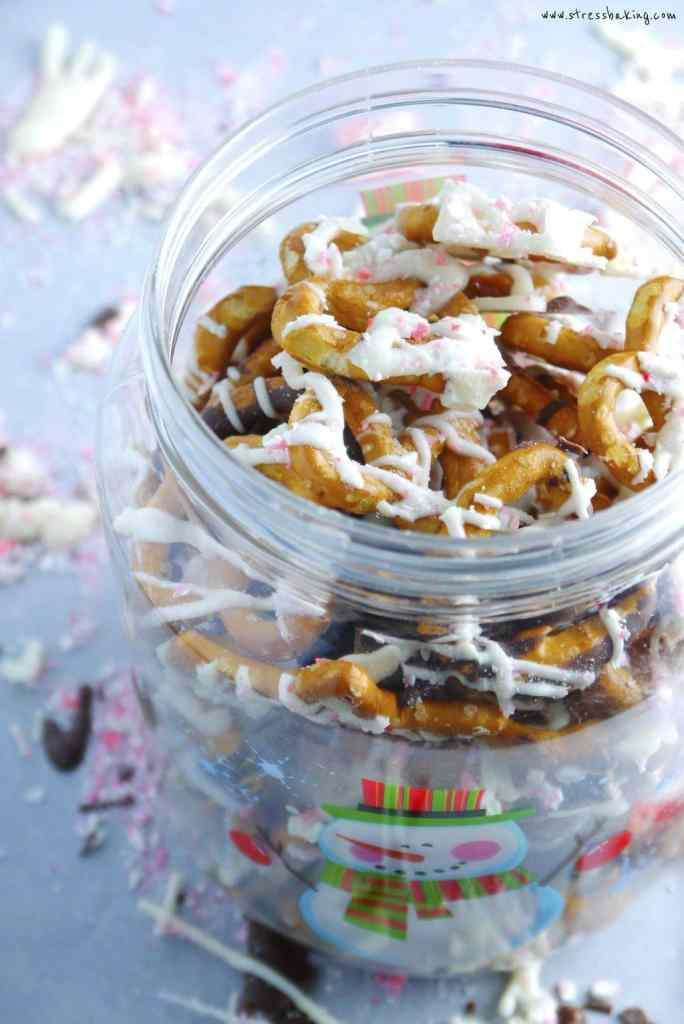 Peppermint White Chocolate Preztels