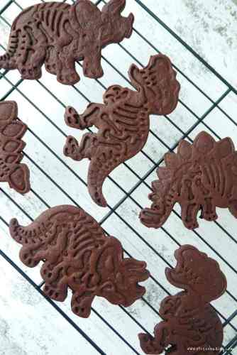 Chocolate Sugar Cookie Dinosaurs