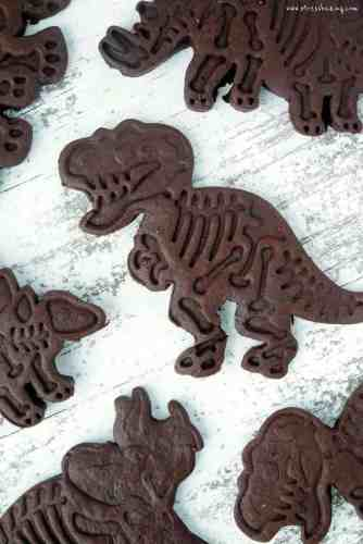 Chocolate Sugar Cookie Dinosaurs