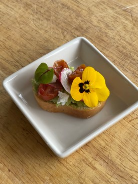 mini avocado toast