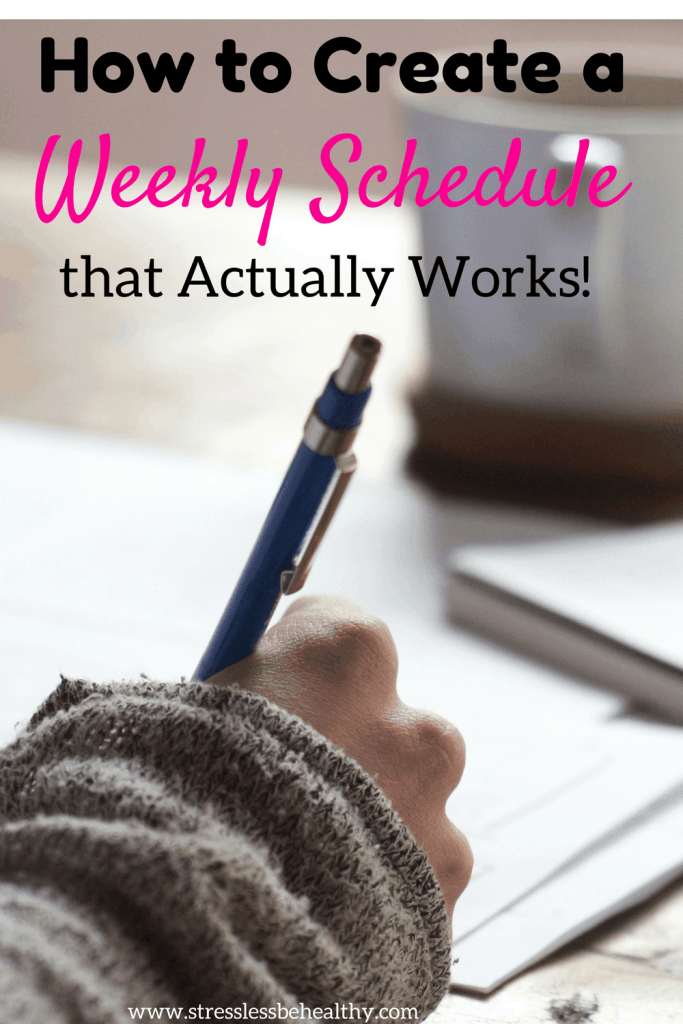how to create a weekly schedule