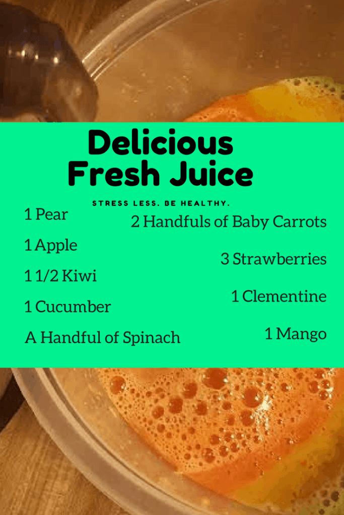 delicious fresh juice