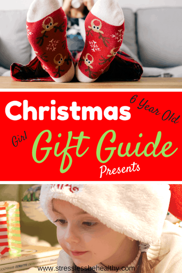 Trying to find perfect gift ideas for 6 year old girls? Look no further, this list was created by a 6 year girl and llimited to the top 10 gift ideas! #giftguide #christmasgifts #christmasgiftideas #girls #stresslessbehealthy