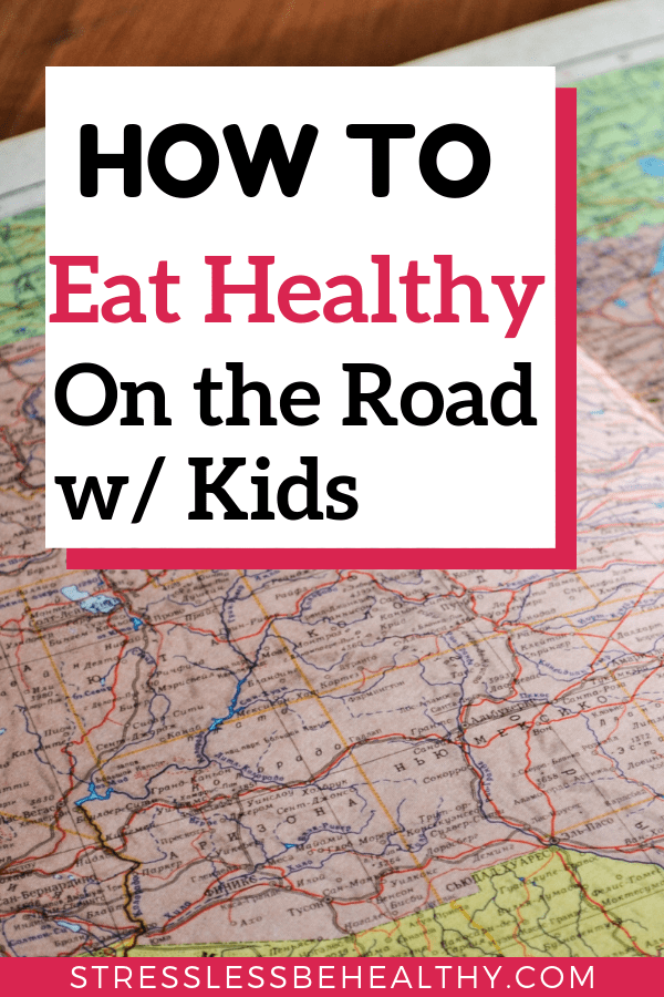map for a road trip, road trips wit kids, where to eat on a road trip, eating healthy on a road trip