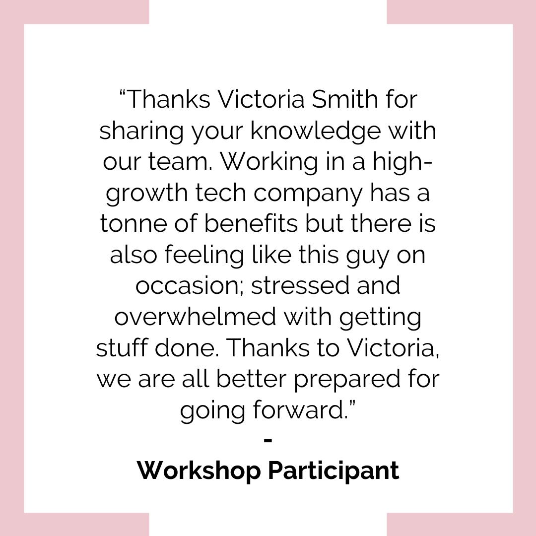 Victoria Smith Speaker Testimonial