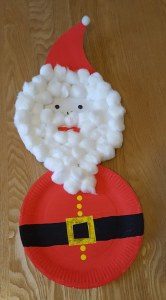 Christmas Paper Plate Crafts - Paper Plate Santa