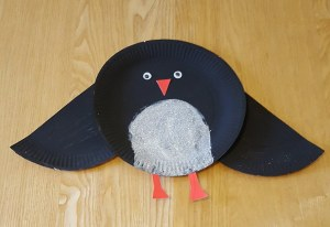 Christmas Paper Plate Crafts - Paper Plate Penguin