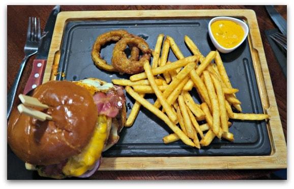 Warrior Burger at TGI Fridays