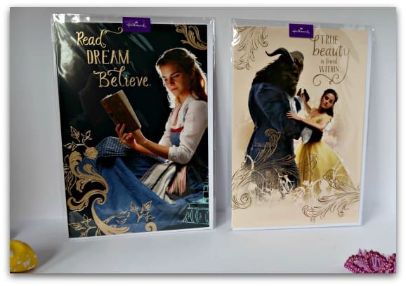 Hallmark Disney Beauty and the Beast Cards with Positive Messages