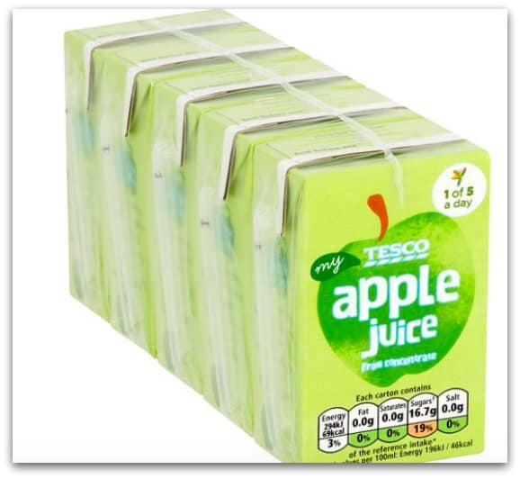 Tesco Small Apple Juice Cartons