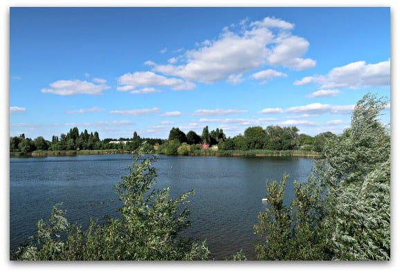 The view from the Shark Hotel at Thorpe Park are stunning as it is situated next to a beautiful lake