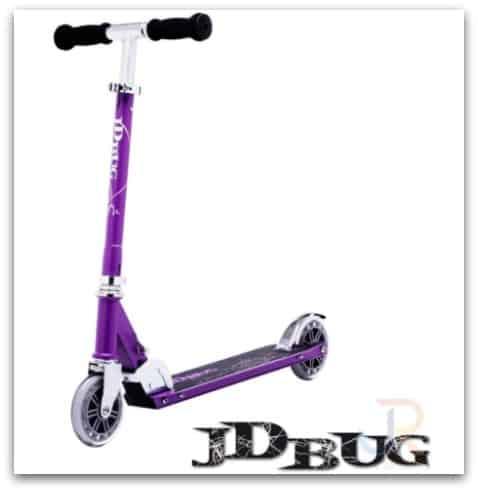 JD Bug Classic Street 120 Matt Purple Foldable Scooter from Skates.co.uk