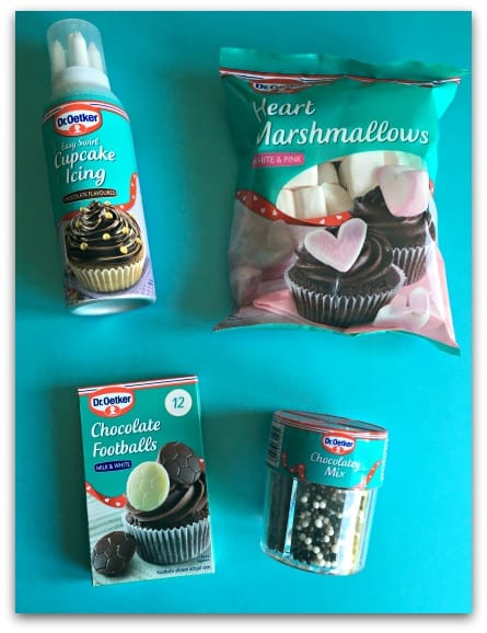 We used these products from Dr Oetker to decorate our vanilla cupcakes