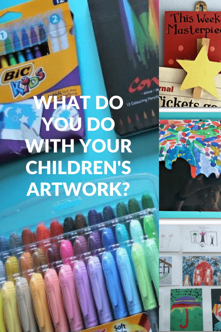 What do you do with your children's artwork?
