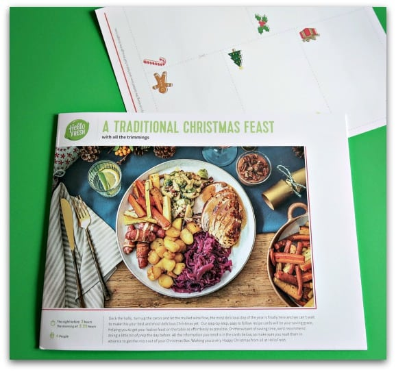 along with all of the ingredients to prepare a delicious meal, the HelloFresh Christmas Box has step by step instructions on preparing and cooking the meal