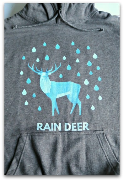 Rain Deer Charcoal Hoodie from Jolly Christmas Jumper