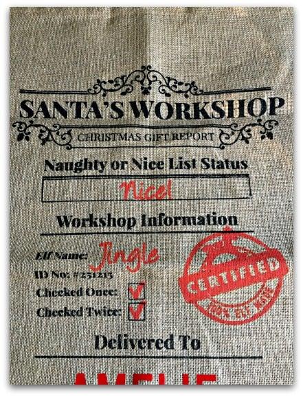 Santa Sacks Personalised Sacks