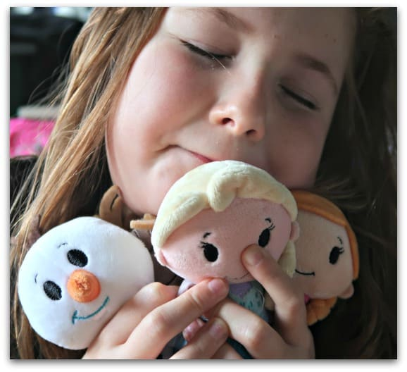 Somebody loves her new Frozen Itty Bittys from Hallmark