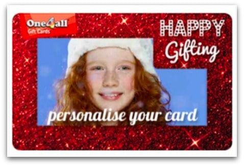 You can even personalise your One4all Gift Cards