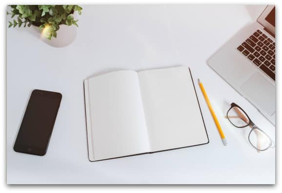 Write down your goals for the week,, month or year to try and help you focus on the task ahead