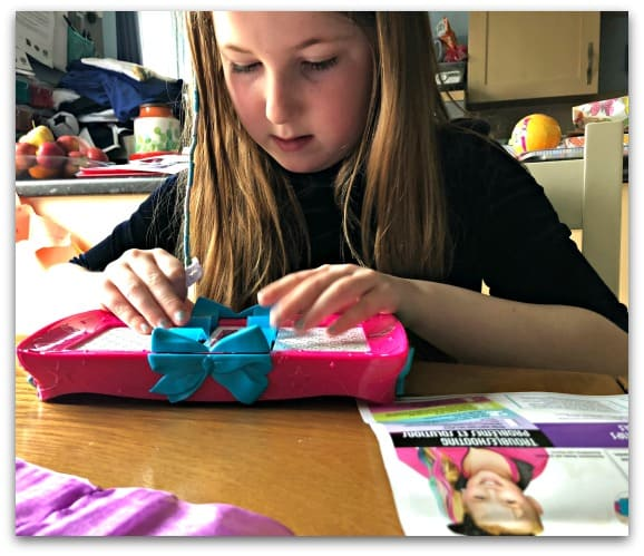 Using the Cool Maker JoJo Siwa Bow Maker is really quick and easy