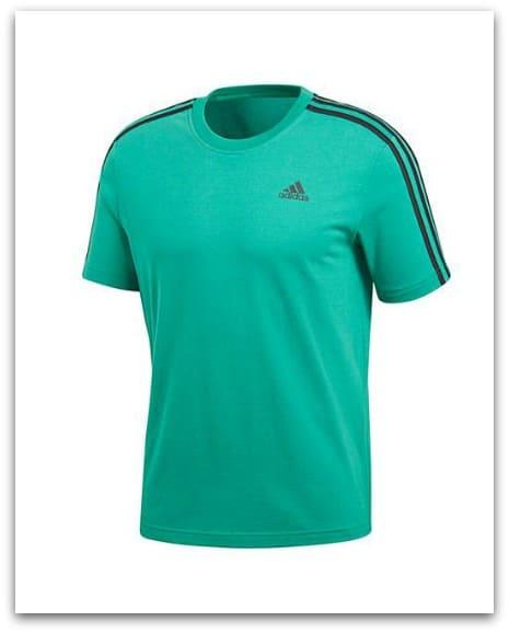 Adidas Essential 3 Stripe Tee from Jacamo