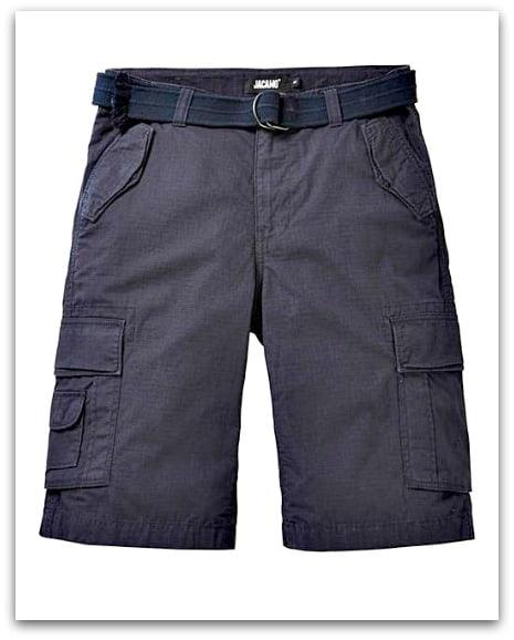 Jacamo Axel Navy Cargo Shorts from Jacamo